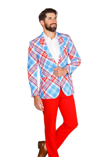 Horsing Around in Kentucky Men s Red and Blue Derby Blazer 3ff455328