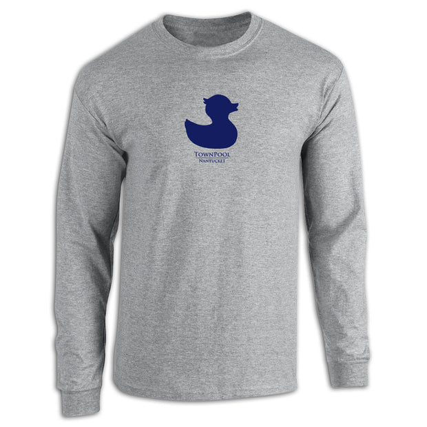 Grey Long Sleeve Duck Tee Shirt