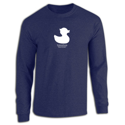 Navy Long Sleeve Duck Tee Shirt