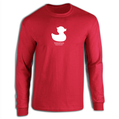 Red Long Sleeve Duck Tee Shirt