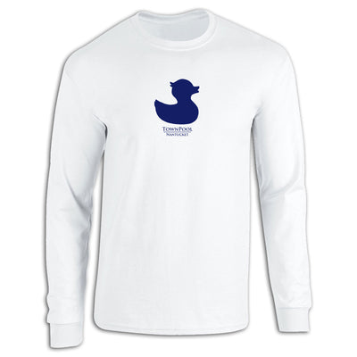 White Long Sleeve Duck Tee Shirt