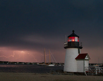 "Lightening Crashes: Nantucket -- 30"" x 48"" -- Custom 3/4"" plexiglass frame"
