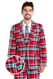 Tipsy Elves Plaid to the Bone Blazer with Tie