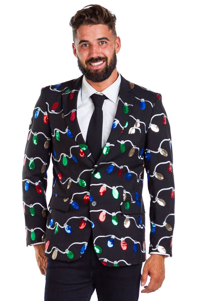 Tipsy Elves Sequin Tangle Wrangler Blazer w/tie