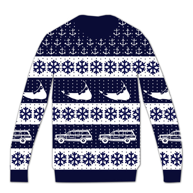 Navy Holiday Sweater