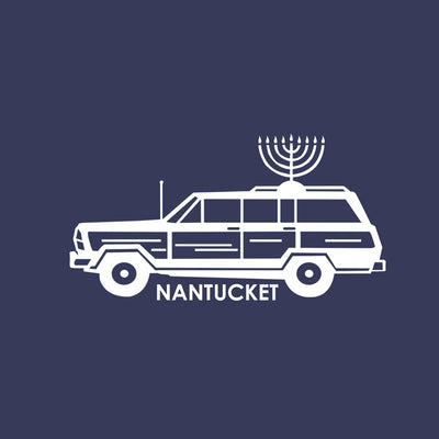 Hanukkah Navy Long Sleeve Tee Shirt