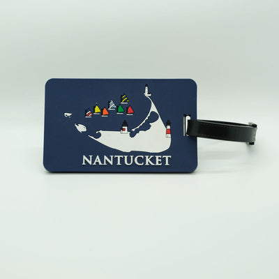Navy Nantucket Luggage Tag