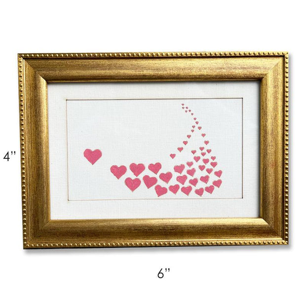 Nantucket Red Hearts - Hand-Painted Artwork