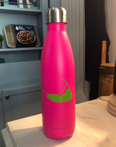 17oz Pink w/ Green Nantucket Bottle