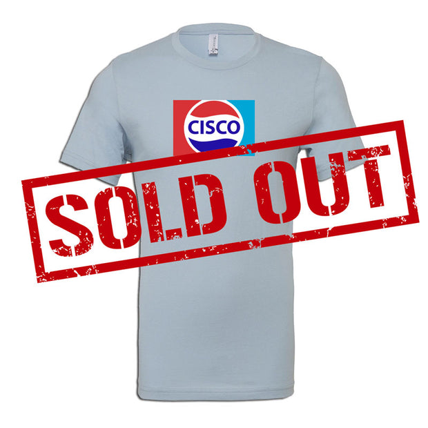 Cisco Grey Short Sleeve Tee Shirt