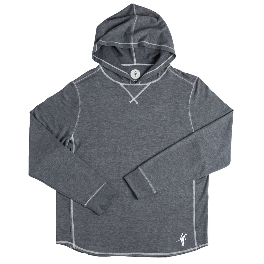 ACK embroidered SCHOONER Long Sleeve HOODIE (SEA SILK) embroider with nantucket