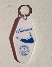 Nantucket Bookstore Key Tag Chain