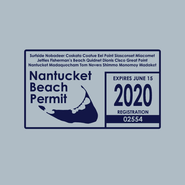 Beach Permit Grey Short Sleeve Tee Shirt