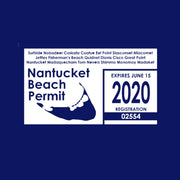 2020 Nantucket Beach Permit Short Sleeve Tee Shirt
