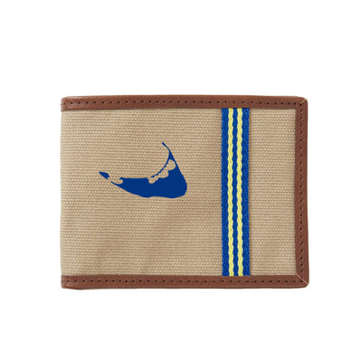Blue/Yellow Nantucket Wallet