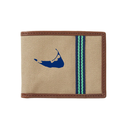 Green/Blue Nantucket Wallet
