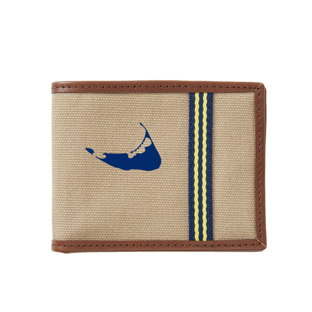 Navy/Gold Nantucket Wallet