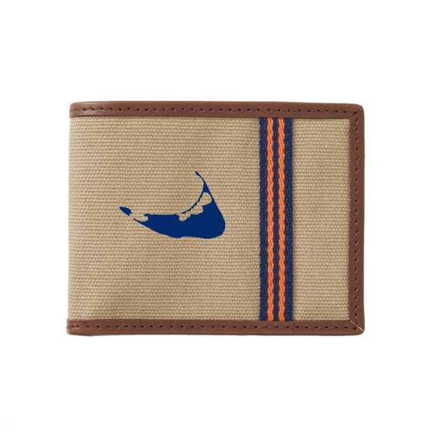 Navy/Orange Nantucket Wallet
