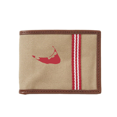Red/White Nantucket Wallet