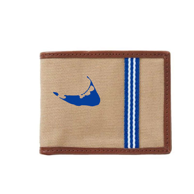 Royal/White Nantucket Wallet