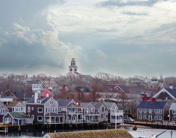 Winter over Nantucket Town