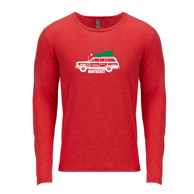 Deliver Tree on Woody Red Long Sleeve Tee Shirt