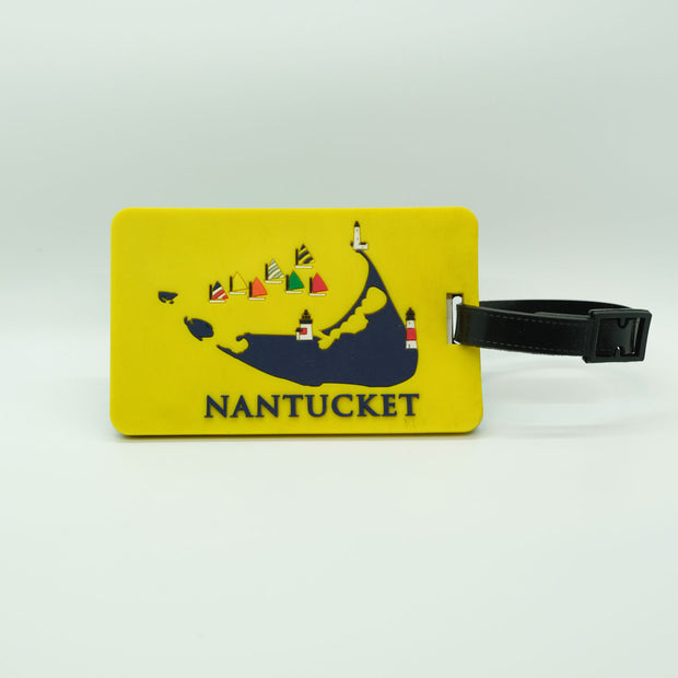 Yellow Nantucket Luggage Tag