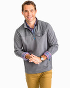 Southern Tide M Woodhaven Windproof Fleece Pullover & 4935