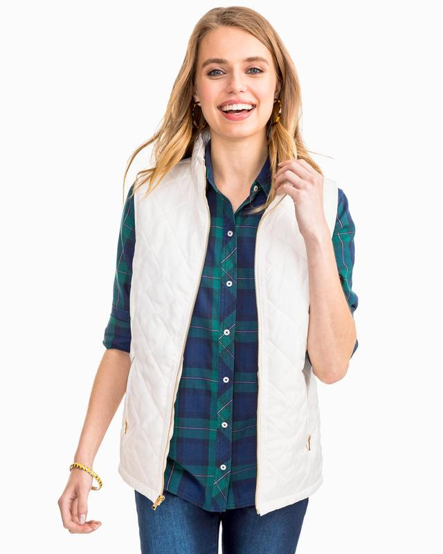 Southern Tide W Quilted Vest & 4237