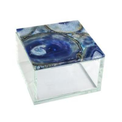 Blue Agate Glass Box