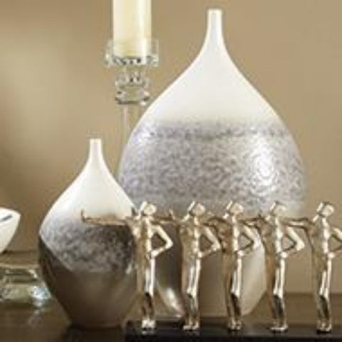 Cream Rises Vase - Wide - Small