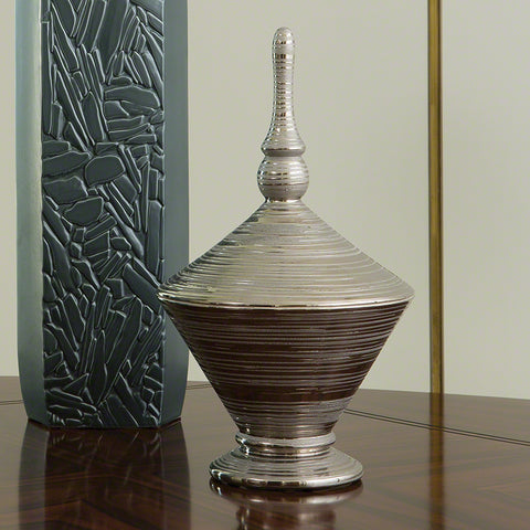 Nifty Lidded Jar Silver - Large