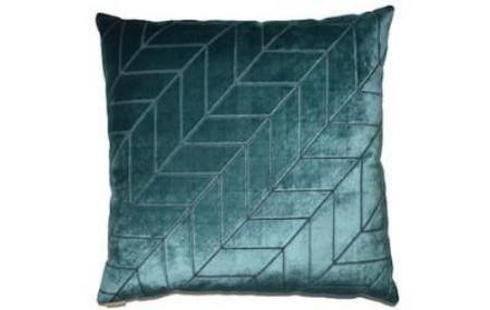 Teal Patterned Pillow
