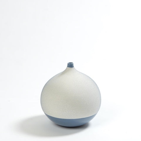 Pixelated Ball Vase Small - Blue