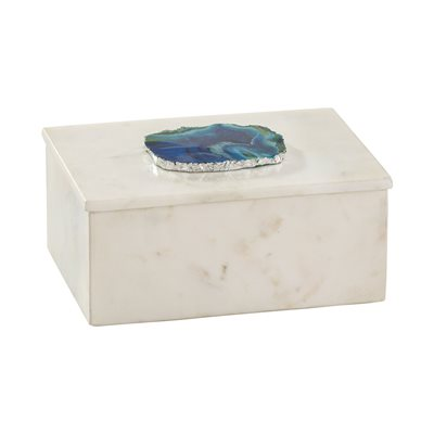 Marble and Blue Agate Box - Small
