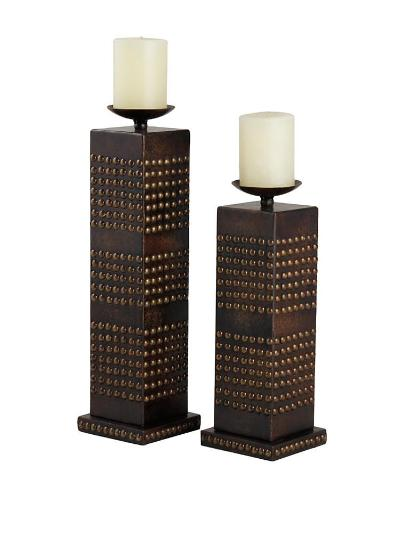 Faux Leather Candle Holders
