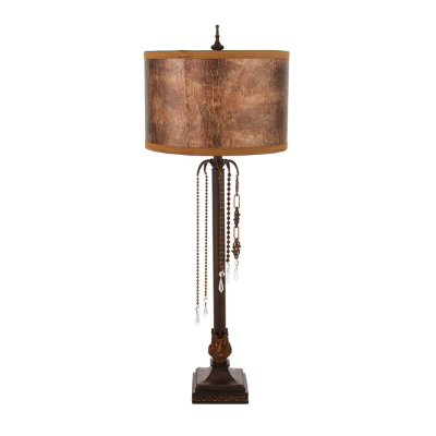Bronze Leather Crocodile Lamp