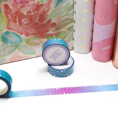 Washi Roll // Shop Exclusive // Sea Siren + Holographic Foil // 15 mm
