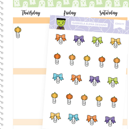 Frankie Frankenstein // Halloween Set // Drawn Doodles // Paperclips