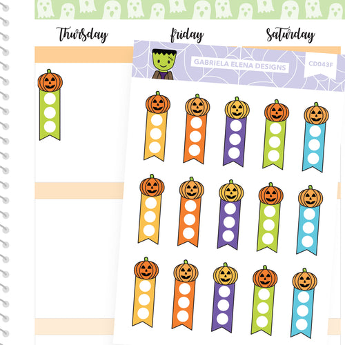 Frankie Frankenstein // Halloween Set // Drawn Doodles // Mini Checklists / Jack o Lanterns Bright