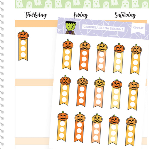 Frankie Frankenstein // Halloween Set // Drawn Doodles // Mini Checklists / Jack o Lanterns Orange