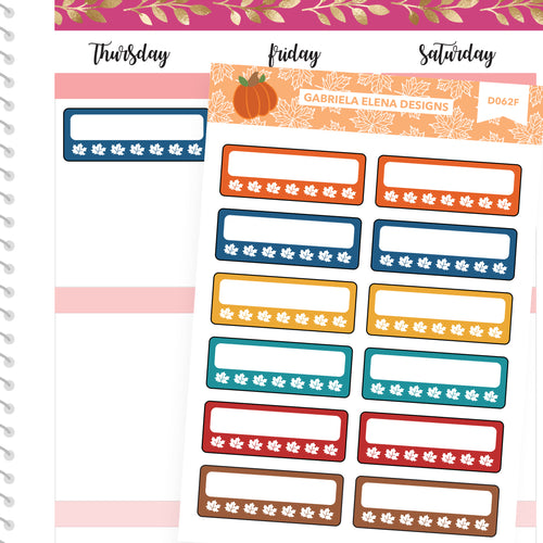 Fall Deco Stickers // Fall Set // Drawn Doodles // Habit Trackers / Brights