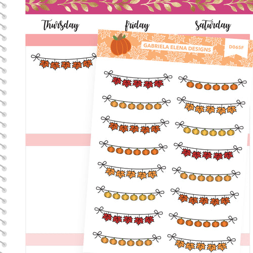 Fall Deco Stickers // Fall Set // Drawn Doodles // Fall Banners