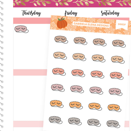Fall Deco Stickers // Fall Set // Drawn Doodles // Sleep Masks / Neutrals