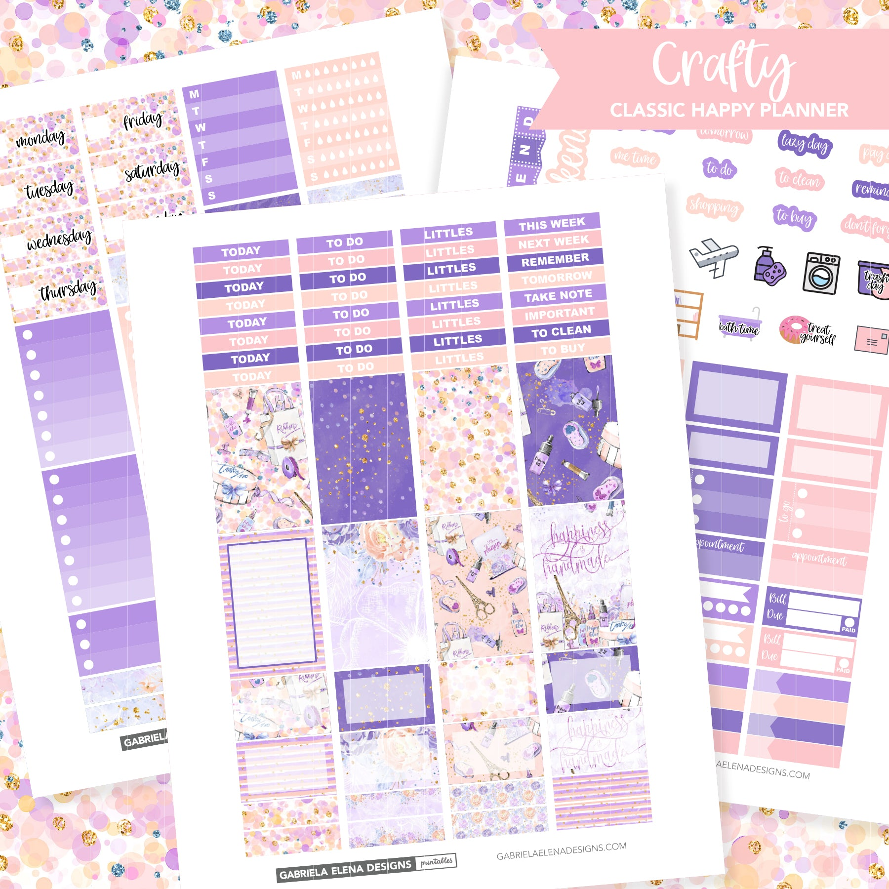 CLASSIC HAPPY PLANNER Printable / Instant Download / Crafty