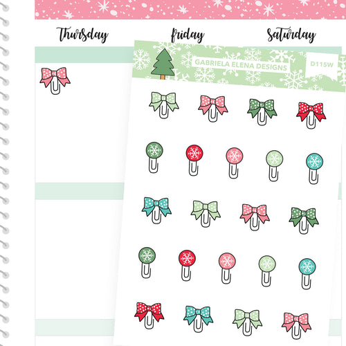 Christmas Set // Winter // Drawn Doodles // Paperclips
