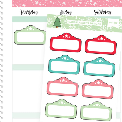 Christmas Set // Winter // Drawn Doodles // Marquees