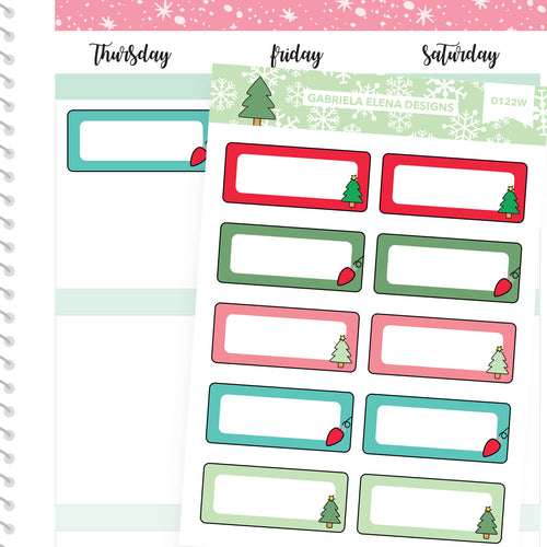Christmas Set // Winter Stickers // Drawn Doodles // Quarter Boxes