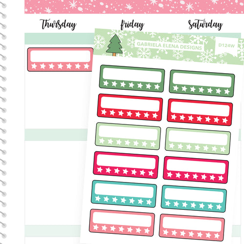 Christmas Set // Winter Stickers // Drawn Doodles // Habit Trackers