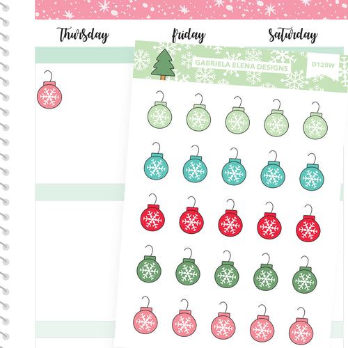 Christmas Set // Winter Stickers // Drawn Doodles // Ornaments
